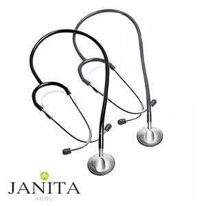 گوشی پزشکی ریشتر مدل آنستوفون رنگ مشکی و خاکستری